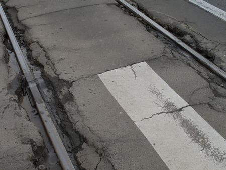 split rail: Roads cracked