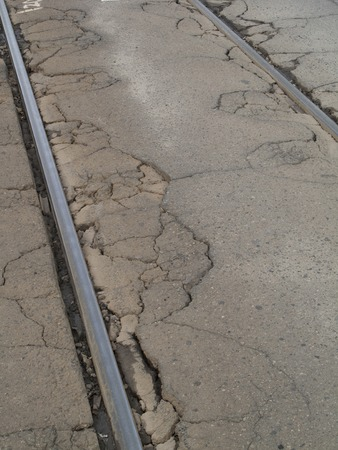 crazing: Roads cracked
