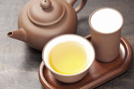 oolong tea: Alpine oolong tea and Chinese tea Stock Photo