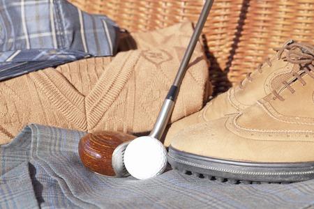 driver cap: Golf equipment and golf balls Stock Photo