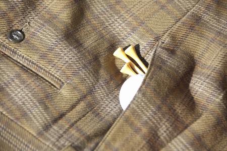 slacks: Golf ball and slacks