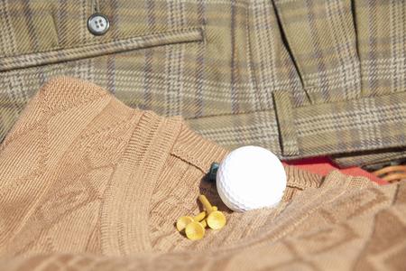 ゴルフ用品、ゴルフボール 写真素材