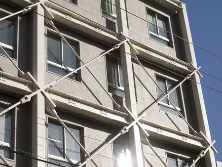 Seismic retrofitting of buildings Stock Photo