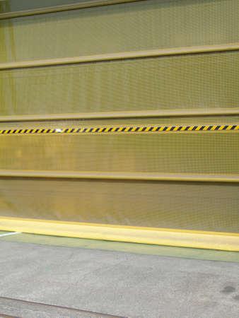 doorway: Windproof sheet of factory doorway Stock Photo