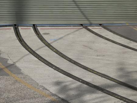 貨物の工場の引込み線