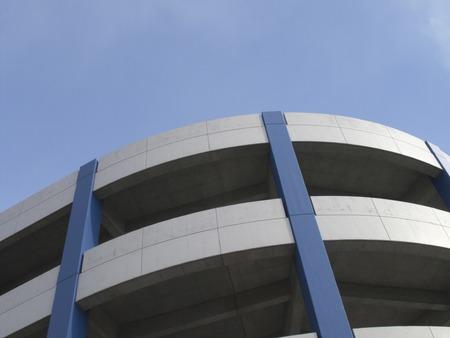 bucle: El edificio del bucle para el tráfico de automóviles Foto de archivo