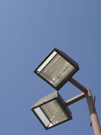 streetlights: Streetlights and looked up from the bottom