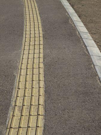 braille: Paseo del bloque de Braille Foto de archivo
