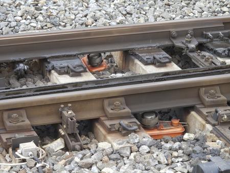 antifreeze: Stove of railway points antifreeze Stock Photo