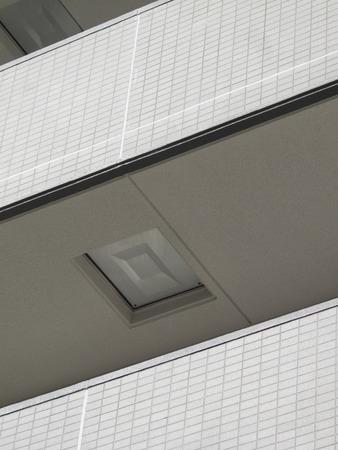 salidas de emergencia: Mansi�n terraza de salidas de emergencia Foto de archivo