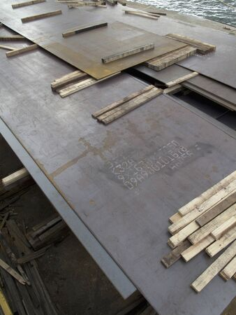 steel plate: The stacked iron plate