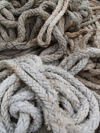 mooring: Mooring rope of a large cargo ship