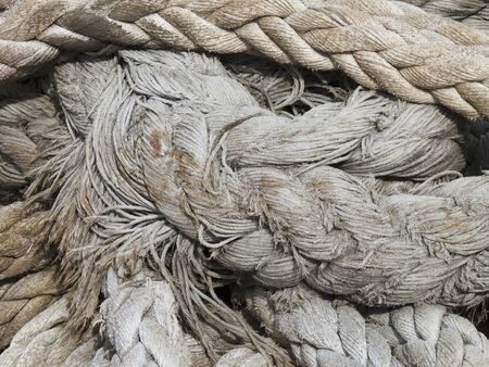 the mooring: Mooring rope of a large cargo ship