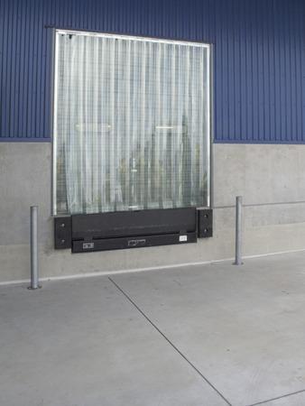 unloading: Warehouse unloading opening