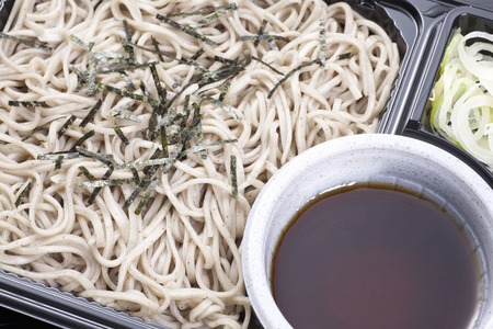 soba noodles: Cold soba noodles with dipping sauce lunch