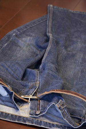 threw: He threw the mens jeans