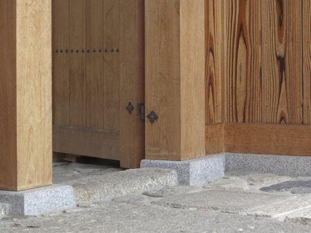 wicket gate: Houses of back door of Kido Stock Photo