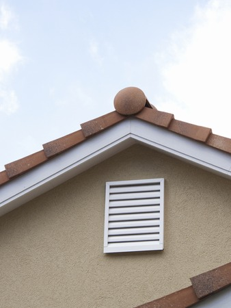 vents: Attic of passing wind direction of Minka Stock Photo