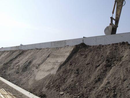 River dyke construction