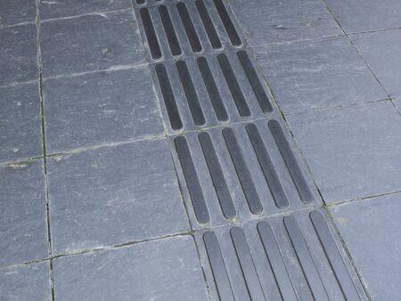 braile: Bloque Braille de baldosas de piedra Foto de archivo