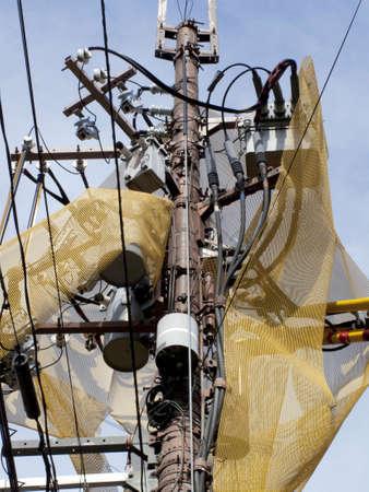 electric shock: Eléctrica neta de prevención de choque de poste de electricidad