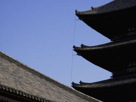 the world heritage: World Heritage Kofukuji Temple five-story pagoda Stock Photo