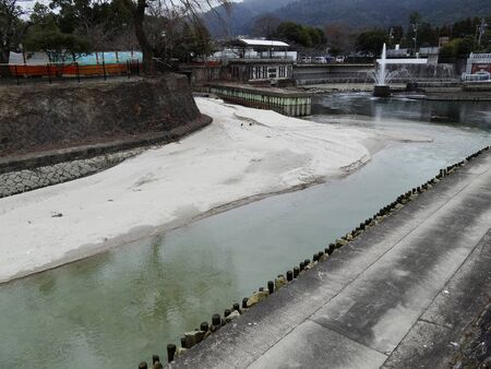 sandbank: Sand sandbar of Lake Biwa hydrophobic