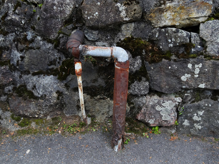 deteriorated: Deteriorated drainage pipe