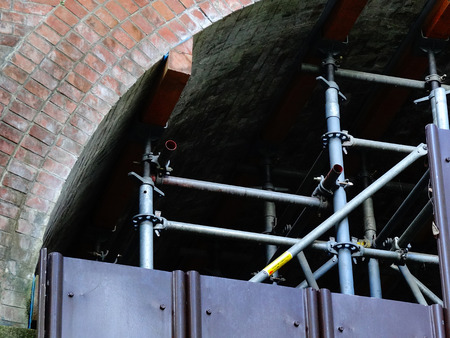 hydrophobic: Crack repair work of the aging of the Lake Biwa hydrophobic waterway Pavilion
