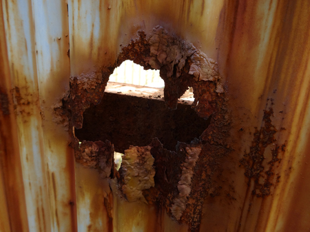 depreciation: Galvanized iron plate rust is corroded