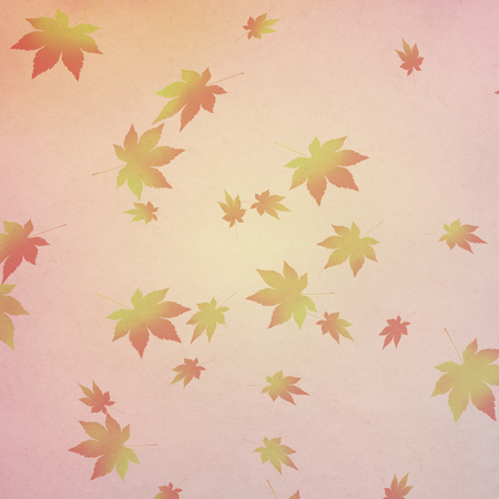circumstance: Japanese paper and autumn leaves pattern