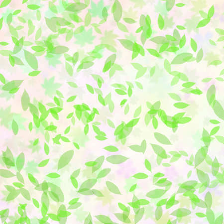 computer dancing: Fluttering green leaves Stock Photo