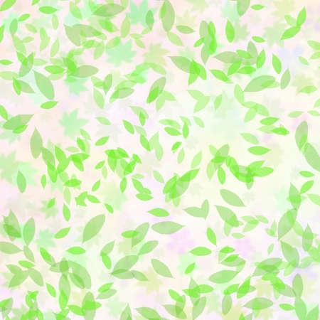 Fluttering green leaves Stock Photo