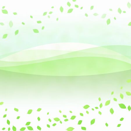 circumstance: Fluttering green leaves Stock Photo