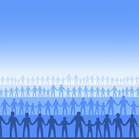 multitude: People holding your hand