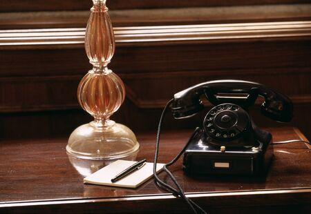 antique phone: Antique phone Stock Photo