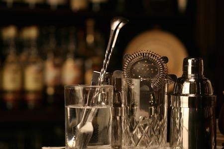 alchoholic: Bar counter Stock Photo