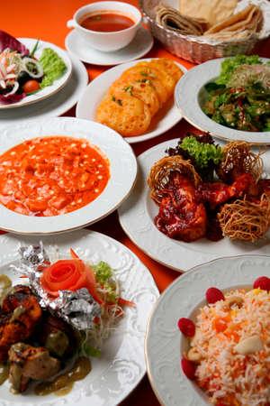 indian cuisine: Indian cuisine set Stock Photo