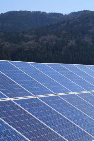 mega: Mega solar power generation Stock Photo