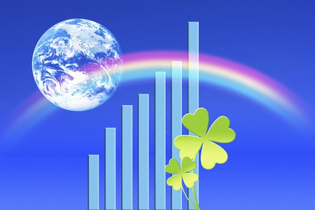 Four Leaf Clover and graphs 写真素材