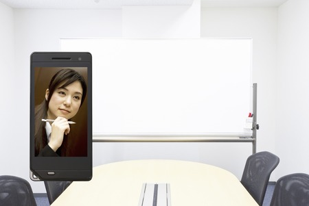 ol: OL and meeting room that moves to the mobile screen Stock Photo