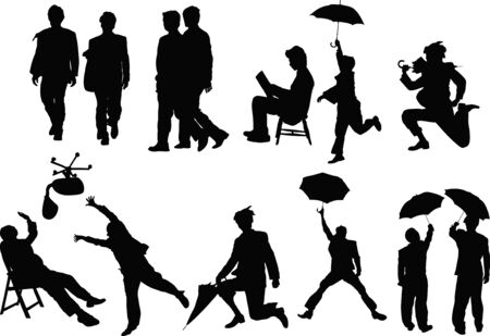 long live: Business people silhouettes Stock Photo