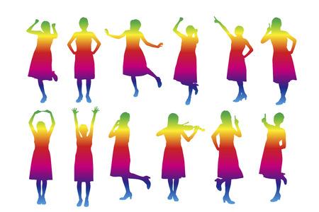joyous: Woman silhouette