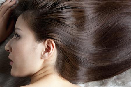 capelli lisci: Capelli diritti femminili Archivio Fotografico