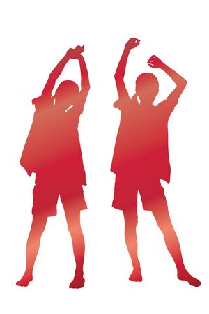 stretch: Silhouette of a woman in stretch
