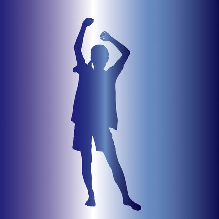 the whole body: Silhouette of a woman in stretch