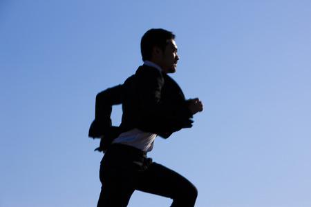 rushed: Corporate run Stock Photo