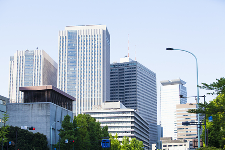 vicinity: Group of buildings in the vicinity of Tameikesanno viewed from Roppongi street