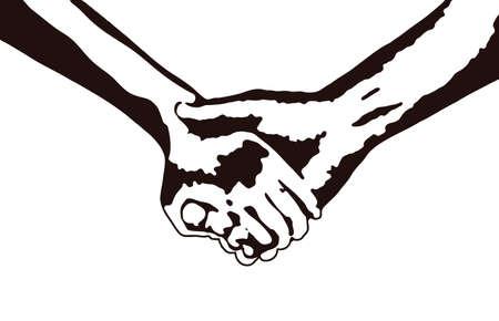bonds: Holding hands