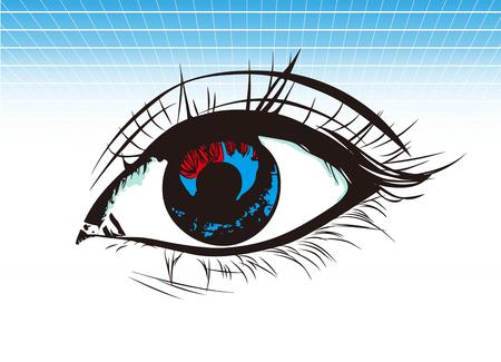 retention: Around the eyes